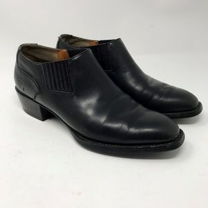 ARIAT Black Leather Ankle Boots Booties 7